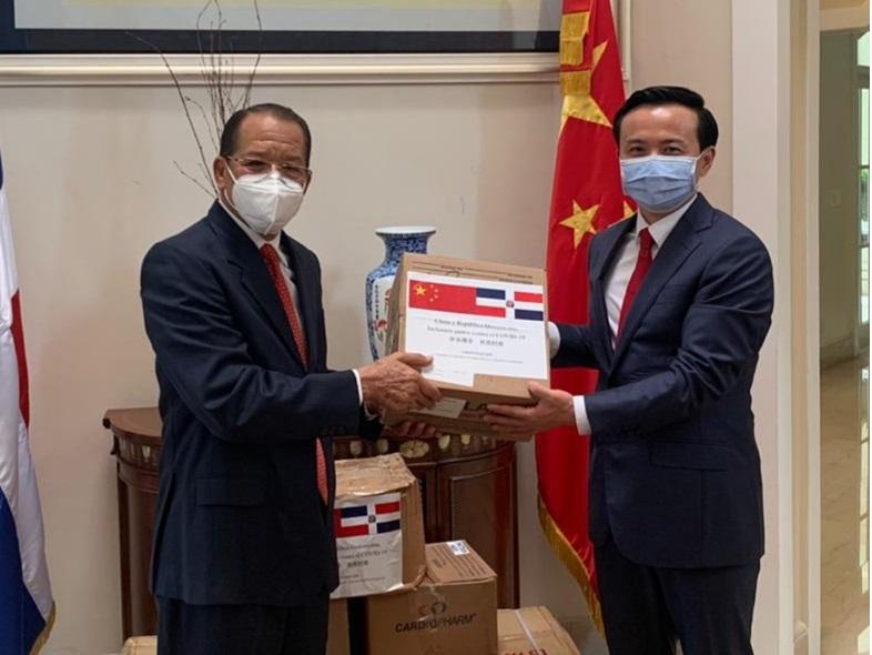 Embajada china doña 5 mil mascarillas a alcaldía SFM combatir Coronavirus