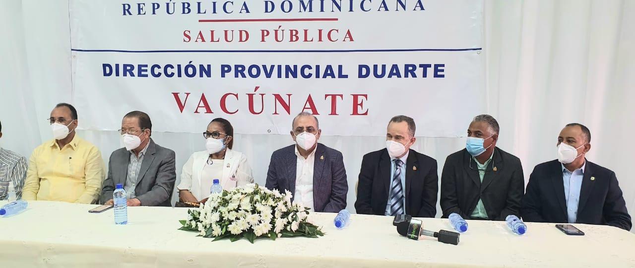 Ministro de Salud apertura vacunacion  contra Civid-19 en SFM